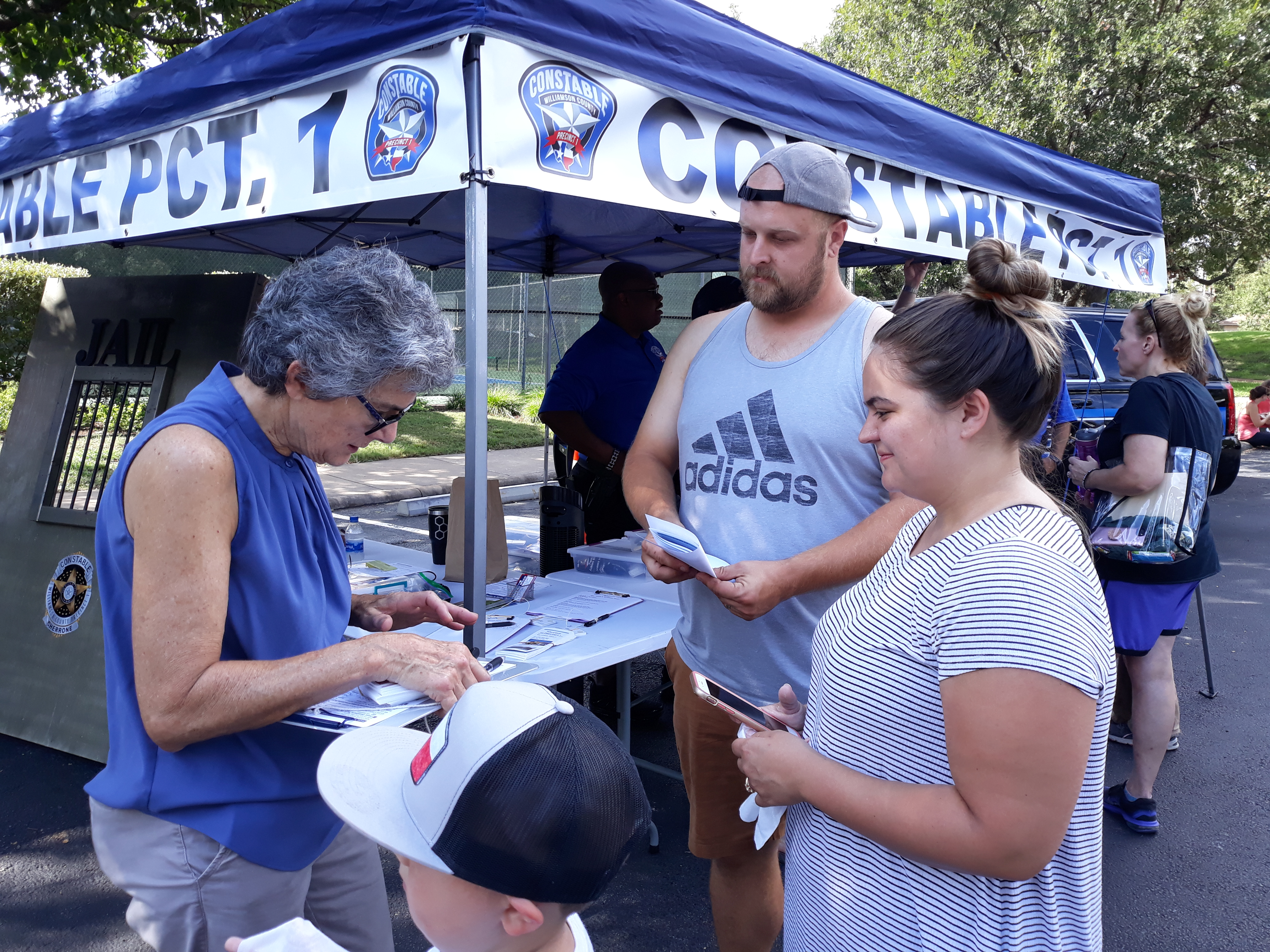 Commissioner Cook registered Precinct 1 voters at the festival and explained the Wilco bond election.