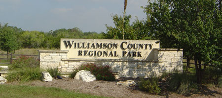 Southwest Williamson County Regional Park Entrance